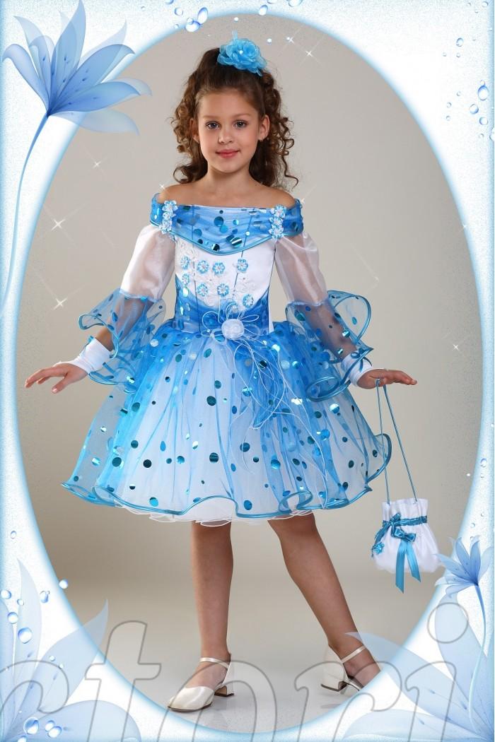 64106be3563 Нарядное голубое платье для девочки в детский сад купить в Украине