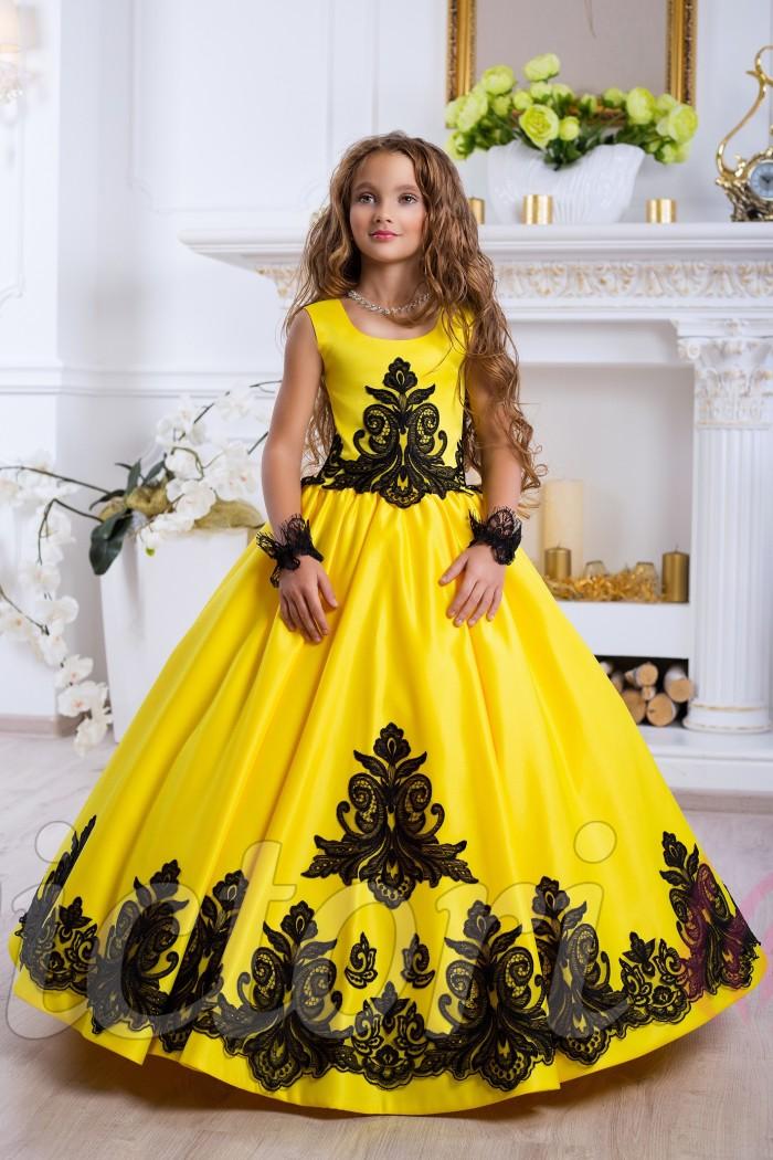 aa3cc90ba71f827 Детское желтое платье купить в интернет магазине Украина